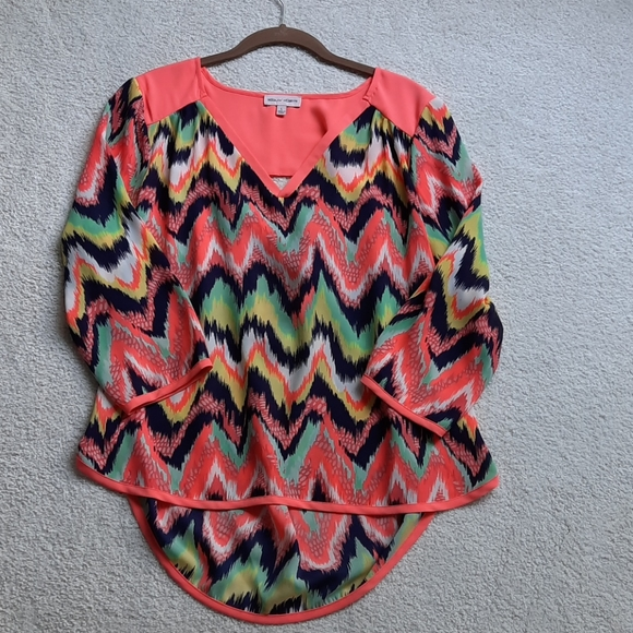 Fun colorful  top by Sequin Hearts